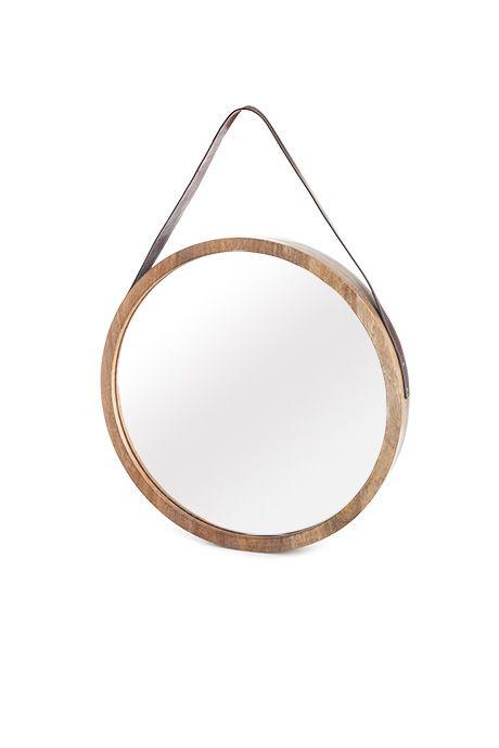 beaver canoe pour target miroir rond avec courroie en cuir mod le illustr 99 99 d co. Black Bedroom Furniture Sets. Home Design Ideas