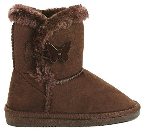 e2177091a94dc Sunny Shoes Kids Girl Sunny Shoes Butterfly/Amy Button Faux Fur ...