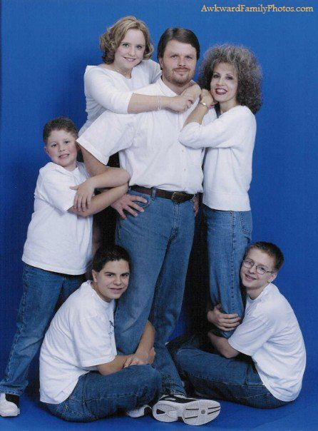 To say this family gets easily attached is an understatement.... time to start planning next years awkward family photo!