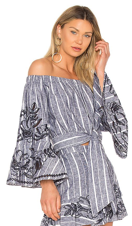 Shop for Parker Georgina Blouse in Blue & White at REVOLVE. Free 2-3 day shipping and returns, 30 day price match guarantee.