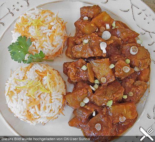 Khoresht - e- Bademjan   -   Lammfleisch mit Auberginen, ein raffiniertes Rezept aus der Kategorie Mittlerer und Naher Osten. Bewertungen: 60. Durchschnitt: Ø 4,4.