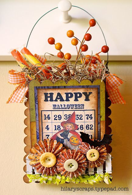 Sizzix: Die Cutting Inspiration and Tips: Die Cutting Paper: Happy Halloween Wall Pocket by @Hilary Kanwischer.