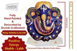 The royal god ganesha idol in ceramic with vibrant hand painted color finish. Embedded in the idol are Swarovski crystals making it a great gift for any auspicious occasion. link : http://diviniti.co.in/en/handcrafted-ganesha-2