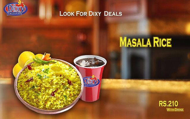 #Ramadan_Offer #Masala #Rice, #Ramadan with #Dixy Our Rice quality is best when it comes to taste. Take our word when we say that this is the Best & classic taste in town. Order Online For Fastest Delivery Or Drop By To Carry out. #Dixy #Chicken Lahore (893-D Faisal Town, Near Akbar Chowk). For Free Home Delivery Call Now: 0304-1113499 #Fries #Food #Rice #friedChicken #Burgers #Pizza #Spicy #PeriPeriChicken #HotDeals #GrilledChicken #Shakes #icecream #Grilled #Wings