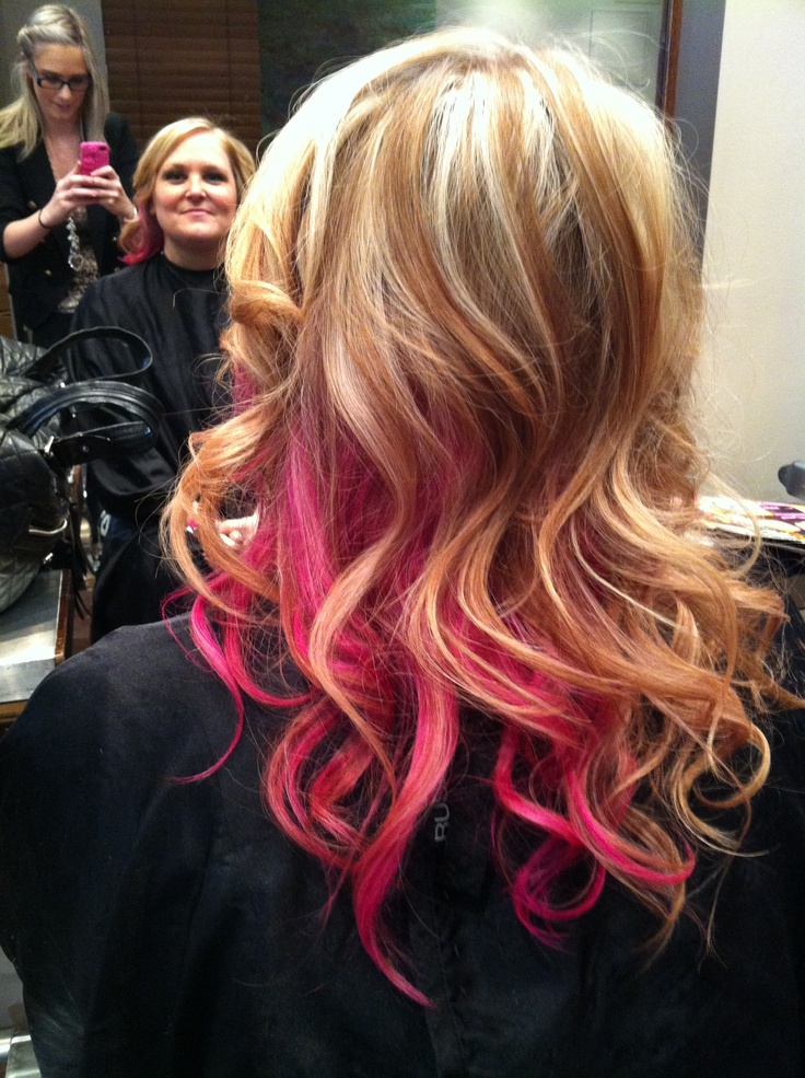 My new hair with pink highlights :) | Beautify Me ...
