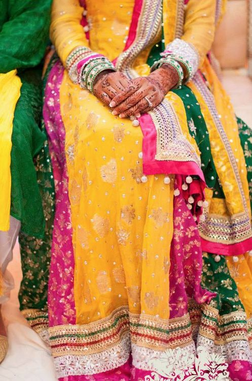Mehndi Outfit Ideas : Images about wedding mehndi dresses on pinterest