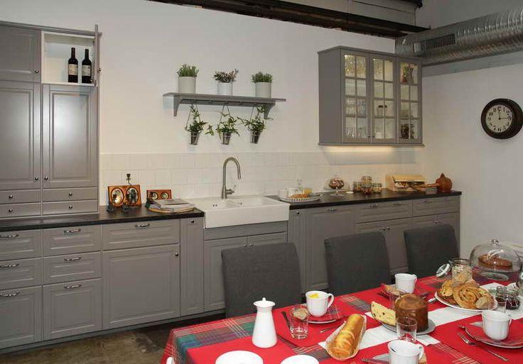 Cuisine ikea bodbyn grise recherche google kitchen for Offre cuisine