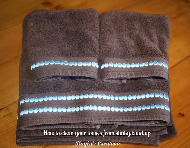 Kayla's Creations: Cleaning Tip: How to deep clean bath towels