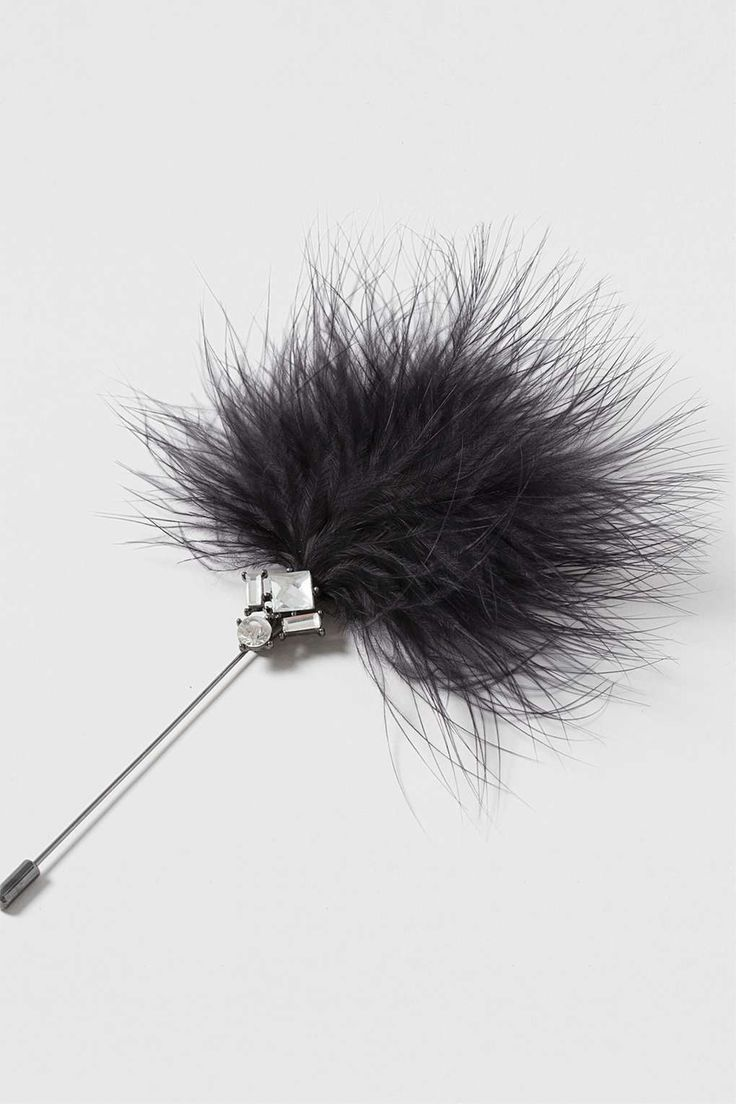 Feather And Rhinestone Pin - Jewellery - Bags & Accessories - Topshop Europe