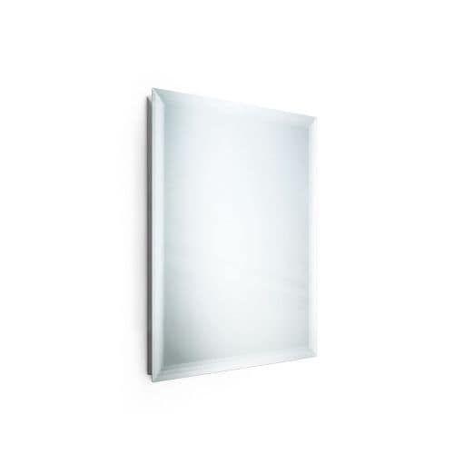 """WS Bath Collections Speci 56688 27-1/2"""" x 31-1/2"""" Rectangular Wall Mounted Frameless Beveled Mirror, Red rust"""