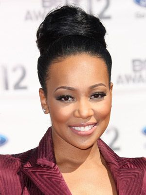 Monica Hairstyles. African-American updos.