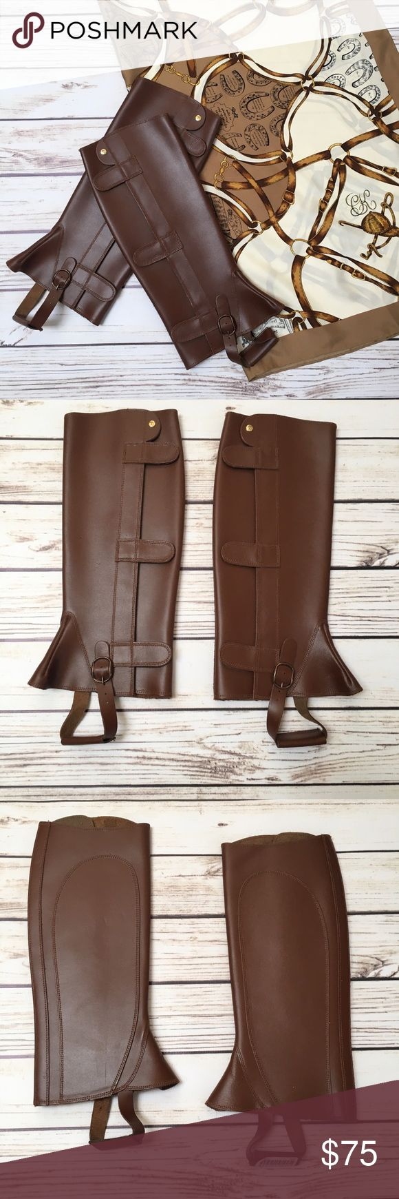 NEW RALP LAUREN Leather Riding Boot Chaps 🐎 NEW RALP LAUREN Leather Riding Boot Chaps 🐎. These cover your boots to keep them clean and scratch free while riding. Great for casual riders and polo lathered alike. Size S. Beautiful. Brand New in perfect condition. Ralph Lauren Shoes Combat & Moto Boots