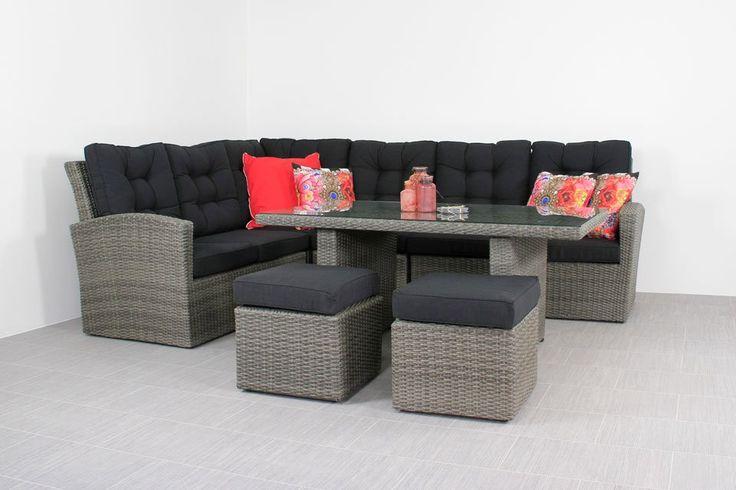 Loungeset met hoge tafel - Marbella loungeset - Van der Garde tuinmeubelen