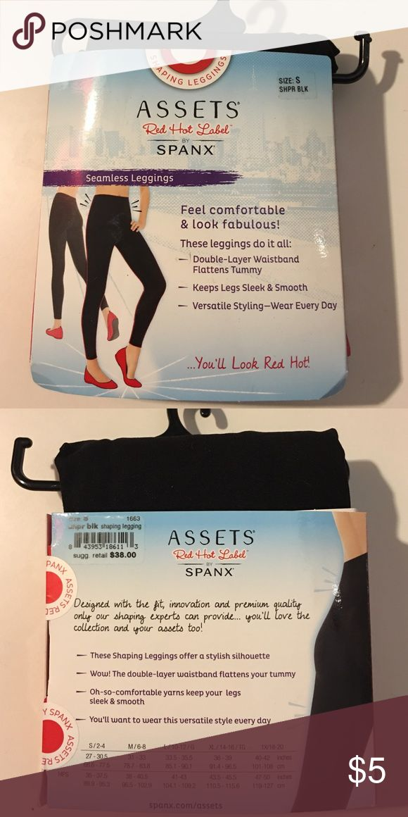 Assets red hot label by spanx Seamless Leggings by spanx double layer waistband, flattens tummy, keeps legs sleek and smooth SPANX Pants Leggings