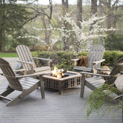 Belham Living All Weather Resin Wood Adirondack Chair - Gray - Adirondack Chairs at Hayneedle