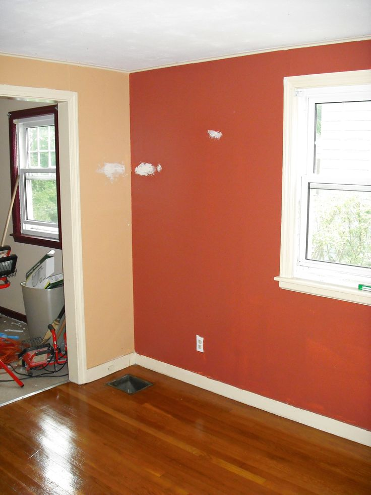 Orange Accent Wall Living Room | Simple Home Decoration ...
