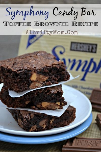 Symphony Toffee Candy Bar Brownie Recipes, easy ways to jazz up a plain brownie recipe, super bowl food, football food