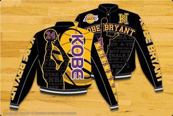 Kobe Bryant Los Angeles Lakers Mens Twill Jacket by JH Design