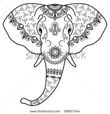 Image result for elephant head draw