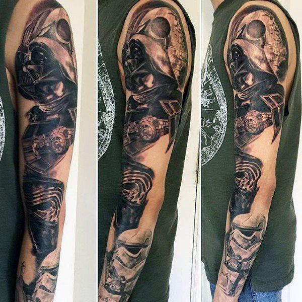Top 101 Star Wars Tattoo Ideas 2020 Inspiration Guide Star Wars Tattoo Sleeve War Tattoo Tattoos For Guys