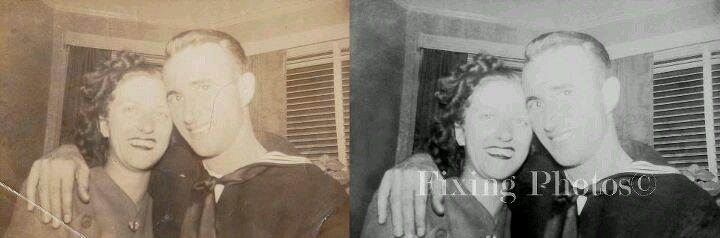 Your photos have cracks, stains or tears? Our photo repair service eliminates them. http://www.fixingphotos.com #photorestoration