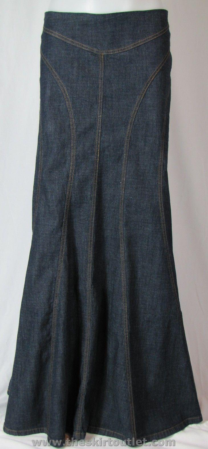 Stitchings Long Jean Skirt...http://www.theskirtoutlet.com/stitchings-long-jean-skirt.html