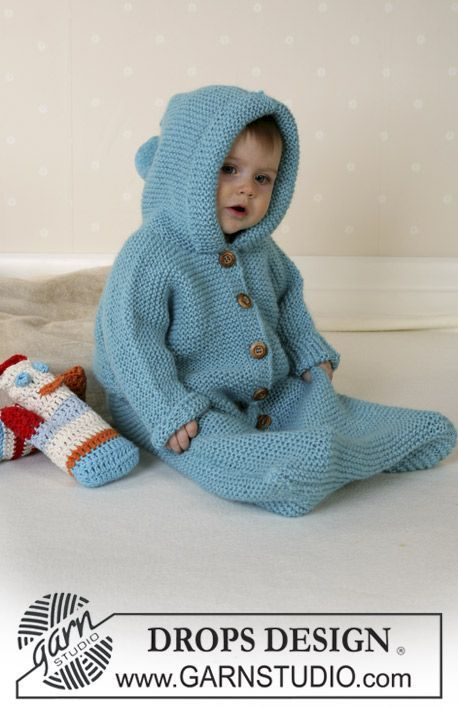 "Baby Knitting Patterns DROPSi ripskoes magamiskott lõngast ""Alpaca"". DROPS Design t..."