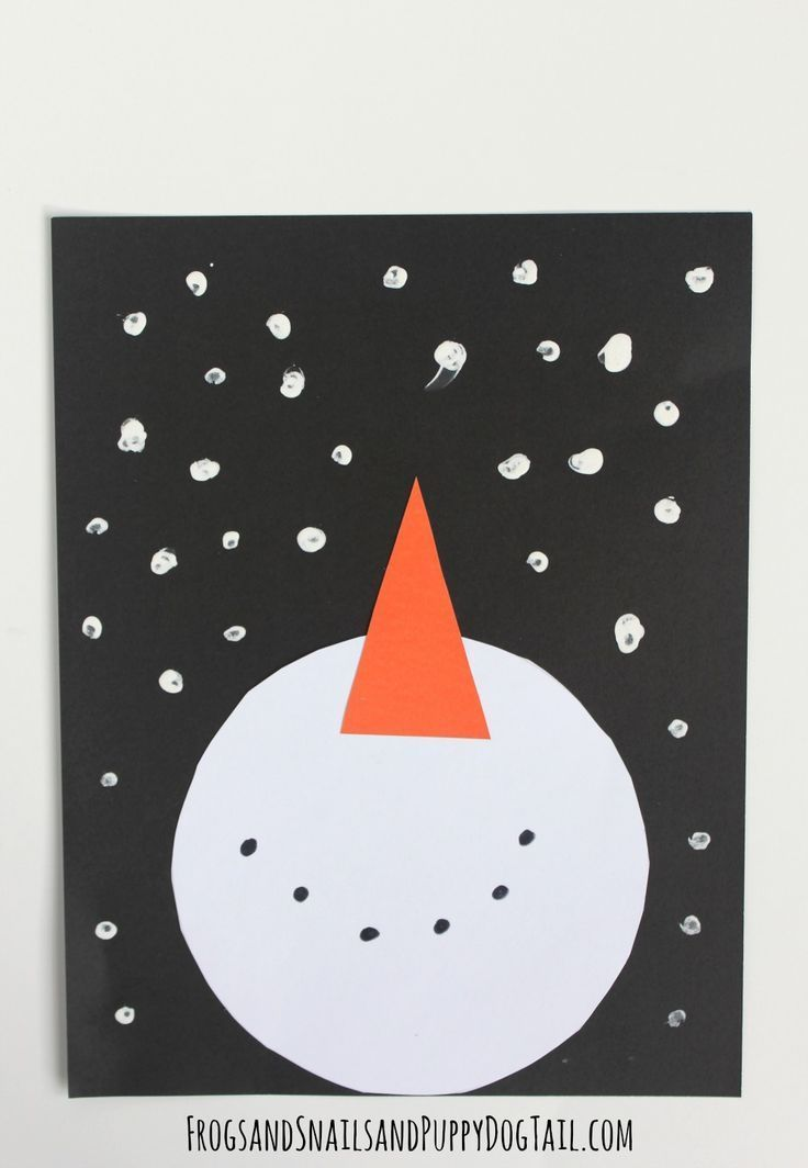 snowman and snow craft for kids