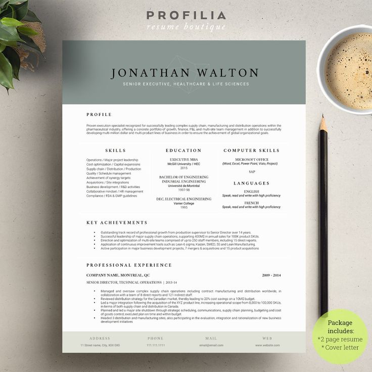 Word Resume u0026 Cover letter Template 67