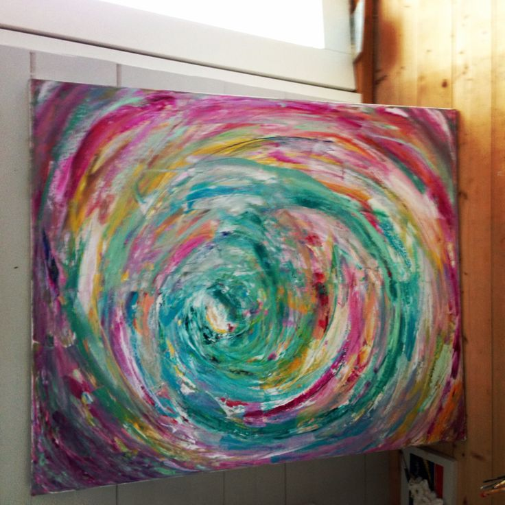 """"""" my world is spinning """" oilpainting"""