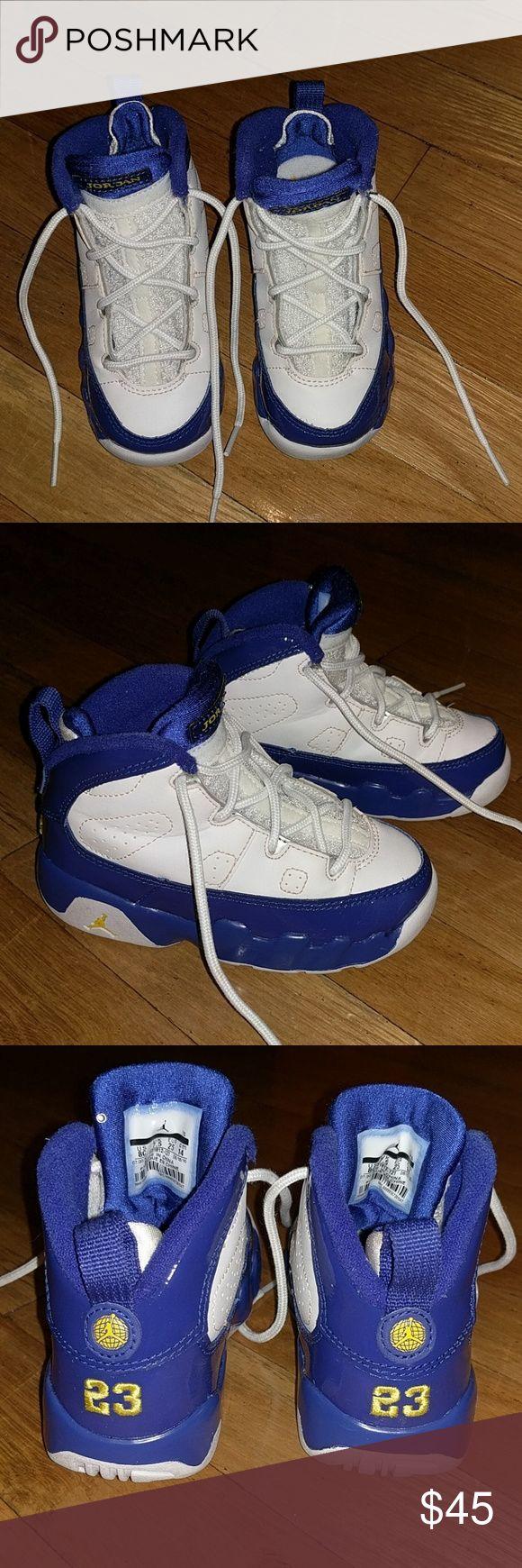 Toddler Jordan 9's size 8c Blue & white Jordan 9's size 8c Jordan Shoes Sneakers