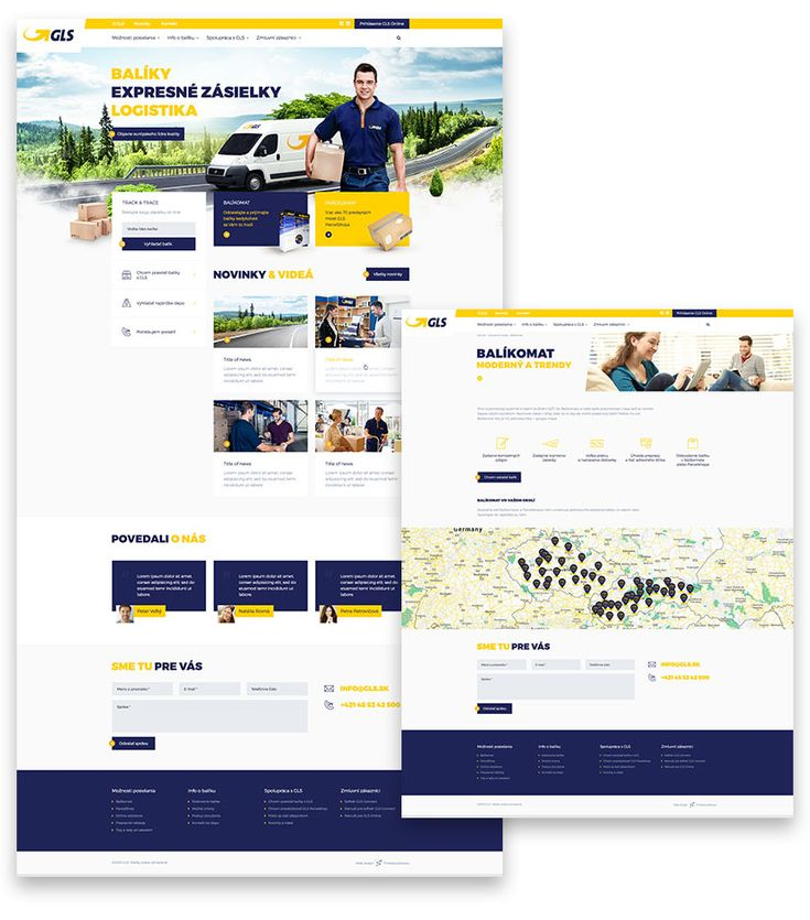 New web for GLS Parcel Service.