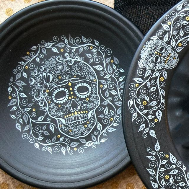 """After the amazing reception our Skull and Vine pattern received at the @americasmartatl show, we decided we couldn't wait for Halloween and will be releasing it early! Look for this spooky decal in Feb/March through our outlets and website. Double tap if you still can't wait for them "" 