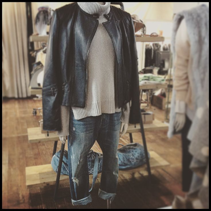 Leather denim and wool - One Rundle Trading