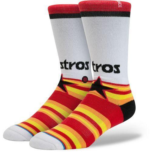 Stance Men's Houston Astros Diamond Crew Socks (Orange, Size Medium) - Pro Licensed Product, Pro Licensed Novelty at Academy Sports