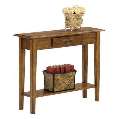 Wildon Home  Traditional Console Table Finish: Medium Oak