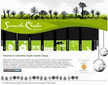 Bespoke garden design website design for Samantha Chaplin Garden Design