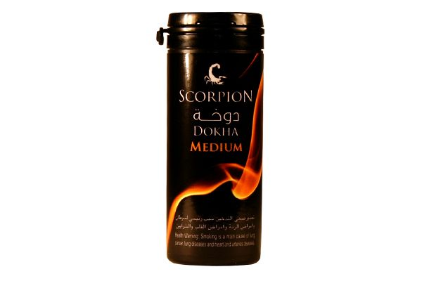 Scorpion Medium (a warm dokha) is sure to satisfy.  Medium packs a great rush, especially if dokha is new to you. Considered a staple for those who routinely enjoy dokha, Scorpion Medium is perfect if you seek the right balance of flavor and satisfaction.