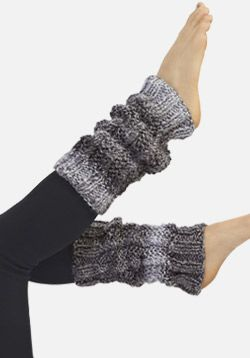 Twisted Stitch Knit Leg Warmers