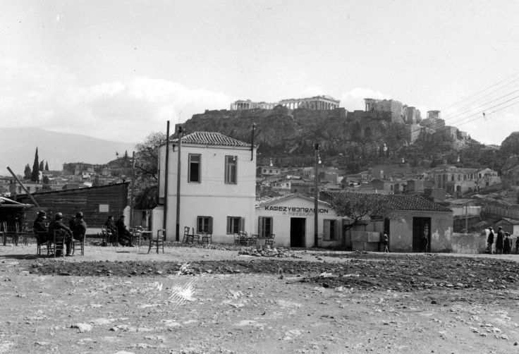 Thiseio in‎ Athens (City), Attica, Greece. 1875
