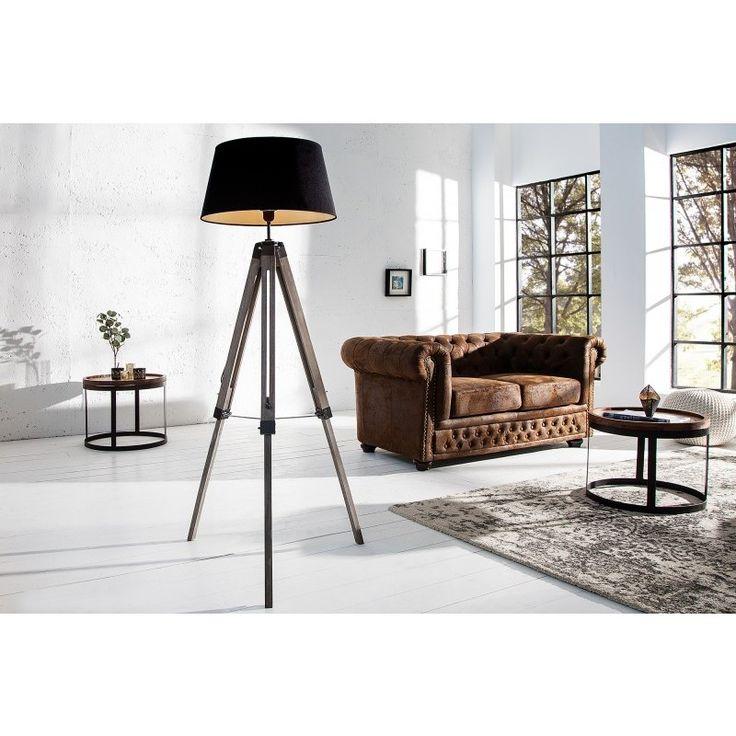 Vloerlamp Stylt 100-145cm zwart - 36853