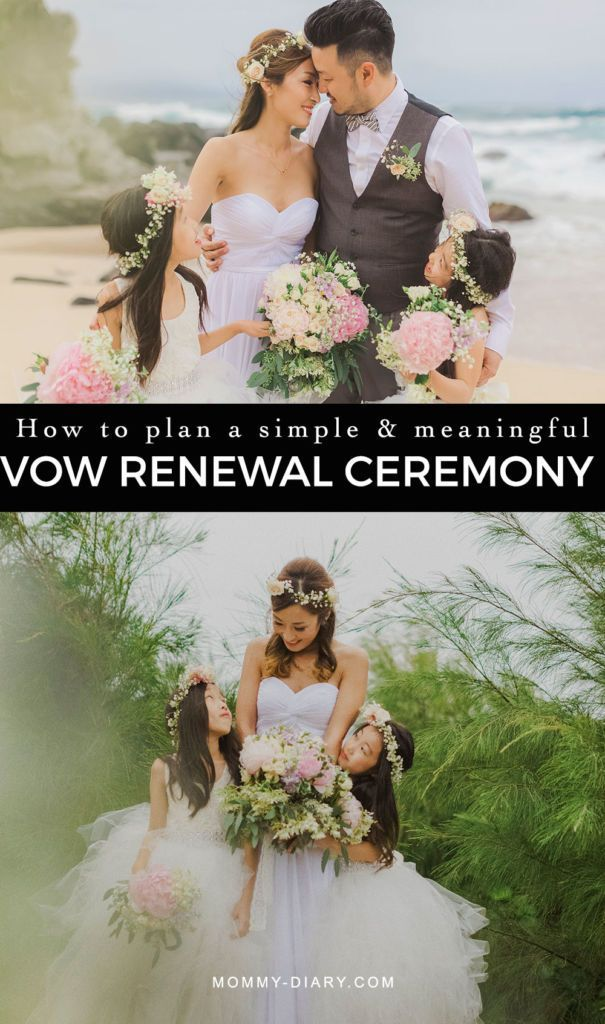 how to plan a simple and meaningful vow renewal ceremony, recommitment ceremony, marriage, 10 year anniversarsy