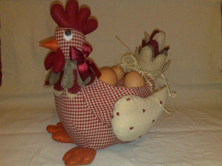 gallina portahuevos