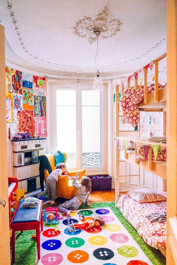 a colorful and creative shared kids room in paris all things rh pinterest com