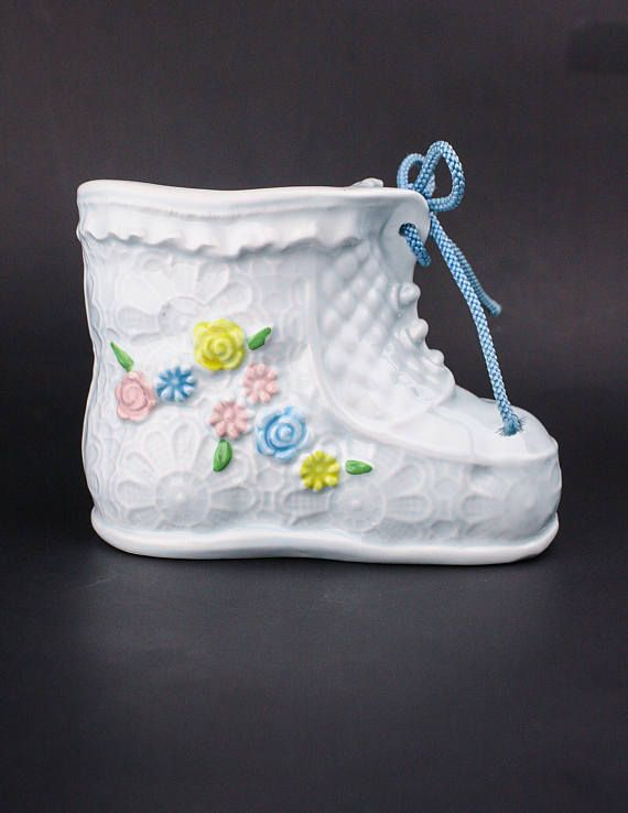 60's baby shower gift in my Etsy shop https://www.etsy.com/ca/listing/594355343/60s-nancy-pew-ceramic-baby-bootie
