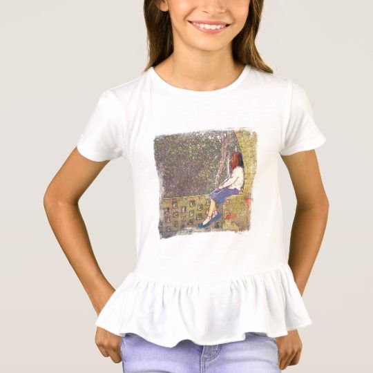 Day Dreamer Girl's Ruffle T-Shirt