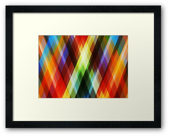 RGyle - abstract framed print