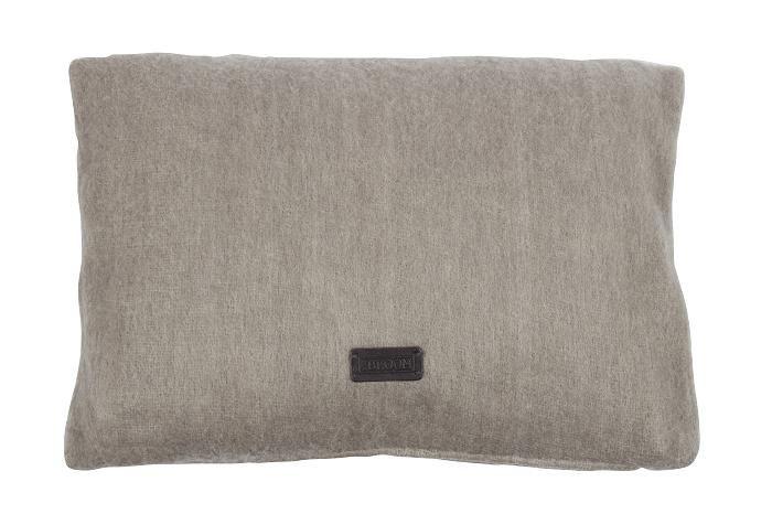MrsBLOOM: Knitted Cushion Véronique light grey 60x40