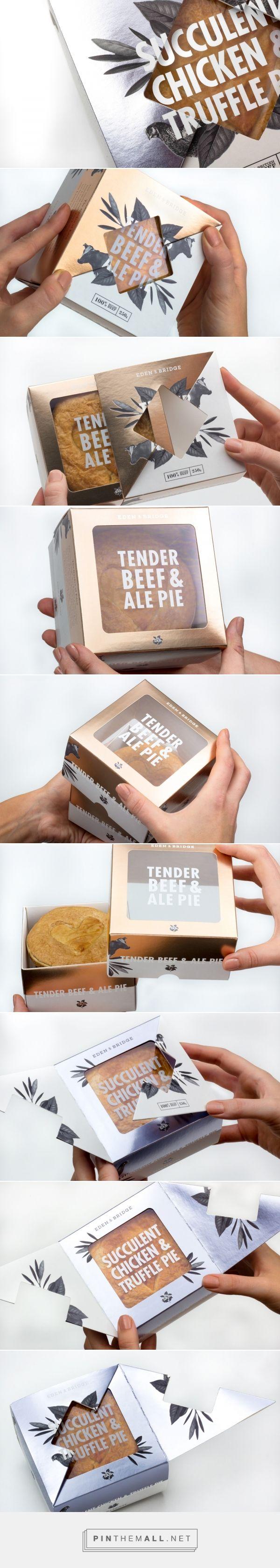 Eden & Bridge Luxury Pie packaging design by Fable&Co. (UK) - http://www.packagingoftheworld.com/2016/09/eden-bridge-luxury-pie.html