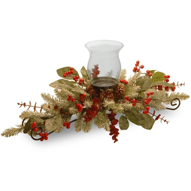 30 in. Decorative Collection Eucalyptus Centerpiece